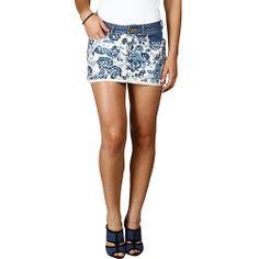 Saia Puramania Jeans Floral