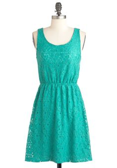 Erin-Colored Glass Dress - Green, Mid-length, Backless, Cutout, Party, A-line, Sleeveless, Summer
