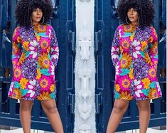 See Beautiful Ankara Gowns 2018 Ladies Have Started Slaying.See Beautiful Ankara Gowns 2018 Ladies Have Started Slaying African Shirt Dress, African Shirts, African Print Dresses, African Fashion Dresses, Ankara Fashion, Women's Fashion, African Clothes, Nigerian Clothing, African Outfits