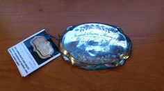 c.1876 ANTIQUE SILVER PLATED COFFIN PLATE ~ 3 MOS 21 DAYS - CHILD CASKET PLAQUE #Unbranded