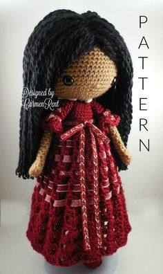 Angela Amigurumi Doll Crochet Pattern PDF by CarmenRent on Etsy ♡