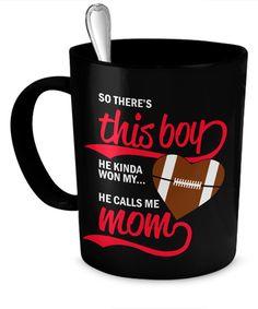 This Footballer calls me Mom  #gift#football #mom #son $19.95