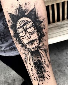 Do you like watching Rick and Morty? Here is the best 30 tattoo designs about Rick and Morty. Cartoon Tattoos, Anime Tattoos, Funny Tattoos, Cool Tattoos, Geek Tattoos, Movie Tattoos, Tattoo Sketches, Tattoo Drawings, Body Art Tattoos