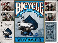Voyager Bicycle Playing Card Deck, designed by Bill Collins. via Kickstarter.