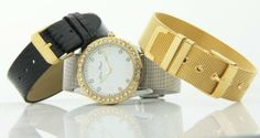 Lucien Piccard Women's 3 Interchangeable Bands Crystal Dial Watch 28179INT Lucien Piccard. $39.99