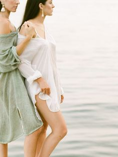 A modern and muted fashion editorial inspired by the unbreakable bond between sisters.   #fashioneditorial #bridalportraits #bridalinspiration #bridalphotographyideas