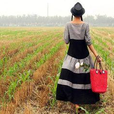 robe de lin du choc de couleur robe de lin à par camelliatune