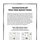 These decimal review game cards can be used with math center games or for cooperative learning activities. They were designed for use with the Plac...