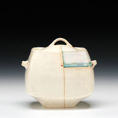 Natalie Tornatore  Description:hand built/pinched earthenware with slip and glazeDimensions:5x5.25x4.75