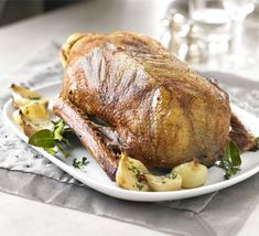 Classic roast goose with cider gravy recipe - Recipes - BBC Good Food