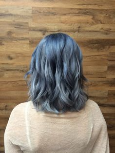 Blue steel - hair color - gunmetal grey hair - Blue hair - grey hair - Davines North America  By Kristine Norris @ sola salons Costa Mesa  Click the picture for more work by hairstylist Kristine Norris or to book an appointment !