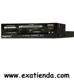 Ya disponible Lector Approx int. dnie negro negro   (por sólo 18.99 € IVA incluído):   -Lector de Tarjetas Interno DNI -Este lector le permite leer el nuevo DNI eletrónico. Es compatible con las tarjetas Smart Cards o tarjetas inteligentes. Cuenta además con un puerto USB y 6 ranuras para tarjetas multimedia que permiten la copia directa entre las diferentes tarjetas insertadas.  • USB 2.0 (También es compatible con puertos USB 1.0) • Flash soportados: Micro SD (T-Fl