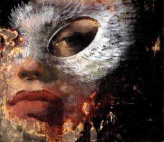 Tony Scherman Oedipus Encaustic Painting