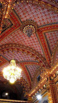 Rococo ceiling. Morelia, Mexico.