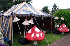 Tim Burton Themed Wedding Tent #mushrooms