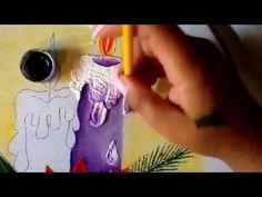 Pintura en tela vela azul de nochebuena cinco con cony