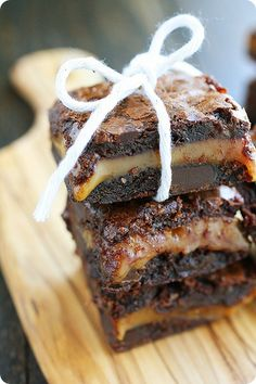 Caramel Filled Brownies.  These look soooo yummy!