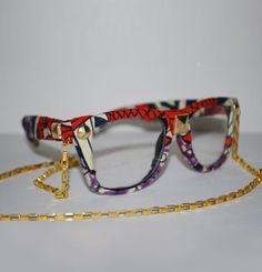 Nena Soul Fly glasses made from Nigeria ankara