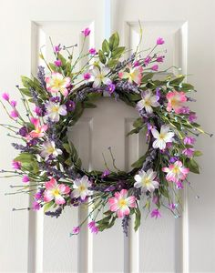 A personal favorite from my Etsy shop https://www.etsy.com/listing/574346782/spring-wreath-for-front-doorsummer