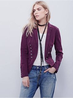 Free People Structured Washed Blazer, $148.00