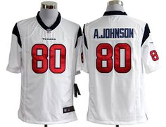 NFL Jersey's Men's Houston Texans Andre Johnson Nike White Limited Jersey