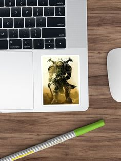 """""""Wh40k Chaos Marine at Battlefield #2"""" Sticker by cool-shirts 