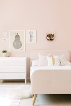 room makeover pink Blush Pink Girls Room Makeover With Kathryn Hawkes Light Pink Bedrooms, Light Pink Walls, Pink Bedroom For Girls, Cool Kids Bedrooms, Little Girl Rooms, Kids Rooms, Kid Bedrooms, Boy Rooms, Trendy Bedroom