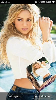 Shakira 3d Live Wallpaper For Android Mobile Phone Live Wallpapers Android Wallpaper Shakira