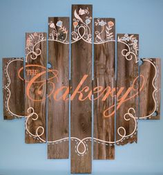 Our homemade Barnwood sign!