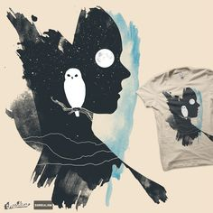 """Portrait of Night-time"" on Threadless needs votes!"
