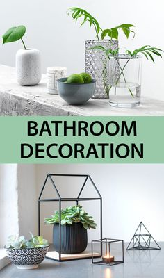 Bathroom decoration and interior ideas from JYSK. Opt for a few vases and plenty of leafy greens to make the space feel fresh. Don't forget to look for items that won't rust with any moisture. Bathroom Styling, Bathroom Interior Design, Interior Ideas, Bathroom Accessories, Home Accessories, Large Baths, Vases, Rust, Don't Forget