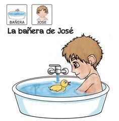 Cuentos para niños con pictogramas TEA ACNEAE la bañera