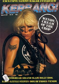wendy o williams, a very nice woman, she came into my old job in 1987 and had jack rudy tattoo her a back piece of the mexican flag.
