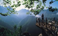 Viewpoint in Madeira, Portuguese archipelago