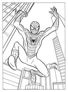 ausmalbilder spiderman zum ausdrucken mit bildern | malvorlagen für jungen, superhelden