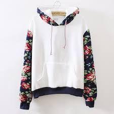 2016 Women Femme Autumn Hoodies Sweatshirt Casual Hooded Long Sleeve Pocket Design Floral Print Hoodie for Women Sudaderas Mujer White Hooded Sweatshirt, White Hoodie, Sweater Hoodie, Hooded Sweatshirts, Fleece Hoodie, Shirt Hoodies, Hoodie Jacket, Sweatshirts Vintage, Red Hoodie