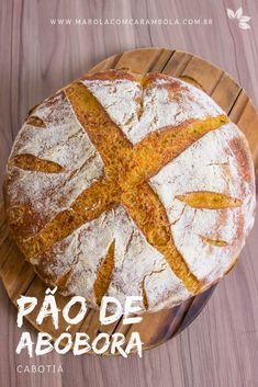 Receita de Pão de Abóbora Cabotiá Dieta Low, Gula, Bread, Healthy, Food, Healthy Pumpkin Bread, Delicious Recipes, Yummy Recipes, Pasta Types