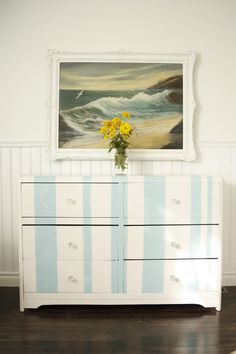 Thrift to Cabana Beach Dresser How To- (Easier than you would Think)!