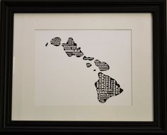 Cities of HAWAII Collage Print OR Customize and by bandaprints, $12.50
