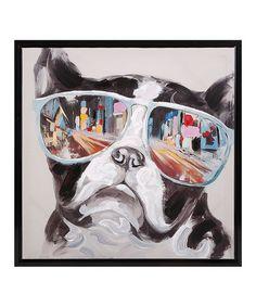 Look at this #zulilyfind! Dog City Shades Framed Canvas #zulilyfinds