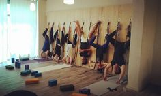 The Yoga Wall at Yogamind Prato.