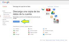 Google TakeOut, descarga una copia de tus datos de Google