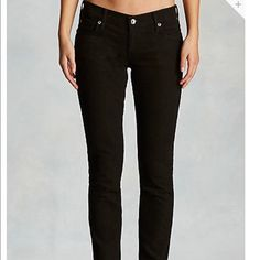 Super cute black jeans True religion jeans with crystal buttons on them True Religion Jeans Skinny