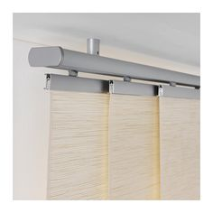 for a wall map!  KVARTAL Triple curtain  rail  - IKEA