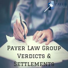 Our law firm prides itself on handling each client's case to ensure every client is fully #compensated for their losses. Where #settlement does not fully compensate a client, Payer Law Group is prepared to try the case. View more of our verdicts and settlements here: http://payerlawgroup.com/verdicts-settlements/ #PayerLawGroup