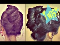 5 MIN UPSIDE DOWN TWIST BUN UPDO FOR MEDIUM-LONG HAIR