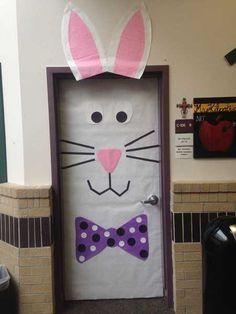 Photo 5 Pâques décoration de porte de classe lapin - Ma Folie Des Fêtes