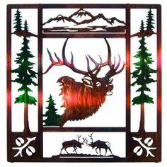 "20"" Fall Bugle Elk Metal Wall Art"