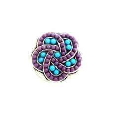 BLUE AND PURPLE BEADED SNAPJEWEL $6.95 http://www.sparklyexpressions.com/#1019