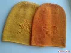 Здравствуйте, Страномамочки. Связались у меня вот такие шапочки бини и одна шапочка с бантиками. Жёлтая из ланаголд файн в 2 ниточки. Оранжевая из детского каприза также в 2 ниточки.